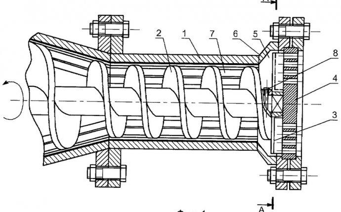 гранулирующий шнековый пресс - патент РФ 2516659 - Логинов