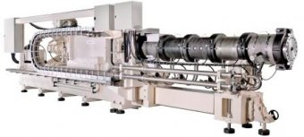 Twin screw extruder for fish feed or aquatic feed production